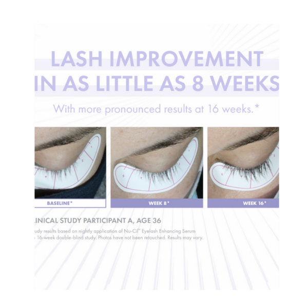 before and afters showing eyelash growth