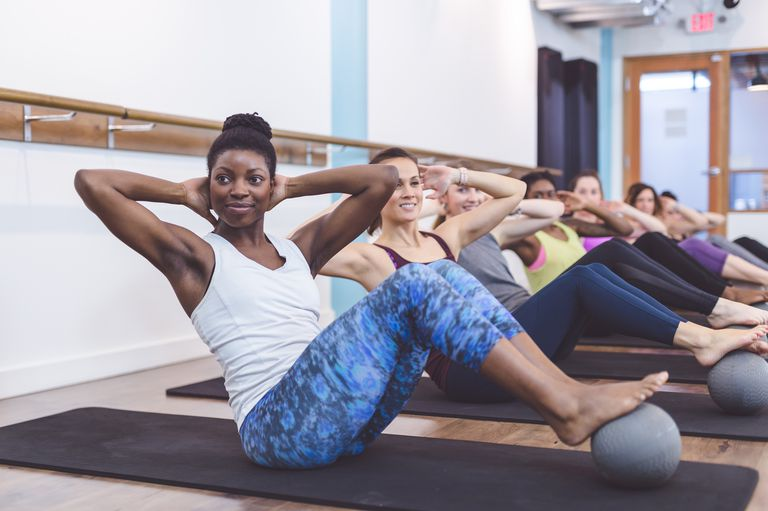 Photo of a group of women during a workout class