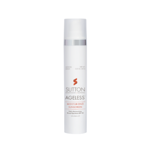 Sutton Ageless Moisturizing Sunscreen product label